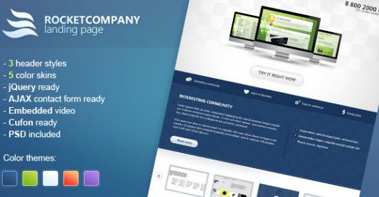 Landing Page Using HTML Templates