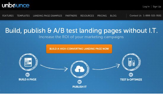 Landing Page Using Online Services