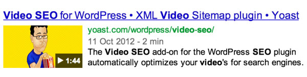 Yoast Video SEO WordPress Plugin