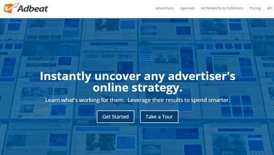 Adbeat Ad Spy tool