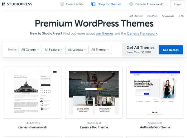 StudioPress SEO Friendly Themes