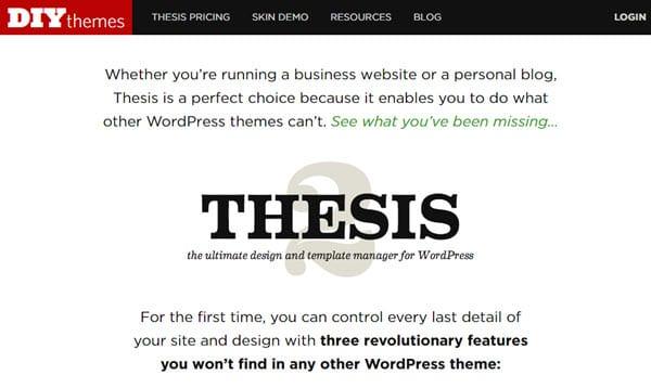 Thesis Theme SEO Friendly WordPress Themes