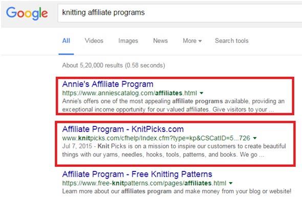 Affiliate Program Search