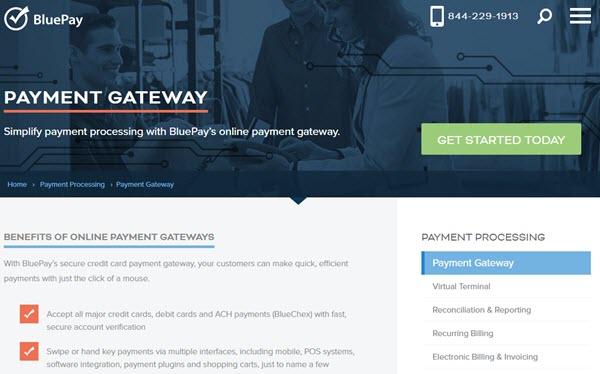 BluePay payment gateways