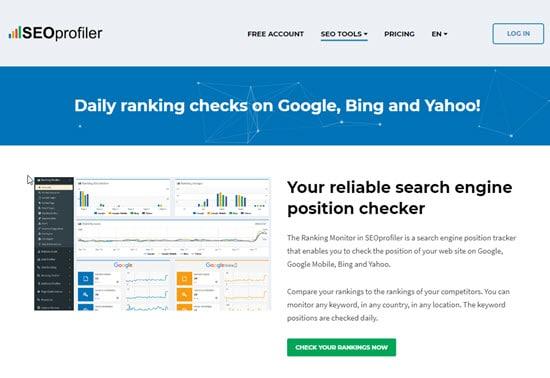 SEOProfiler SEO Keyword Monitor