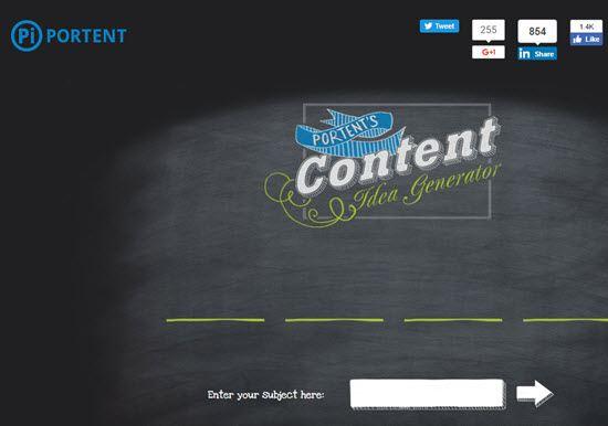Content Idea Generator by Portent