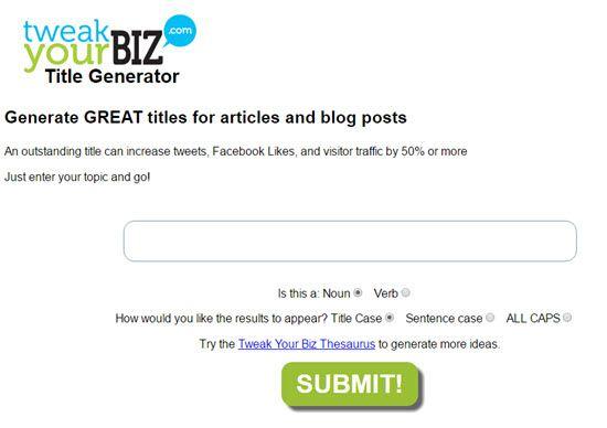 Title Generator by TweakYourBiz