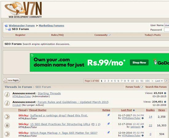 V7N Webmaster Forum