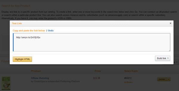 Amazon Affiliate Program Links