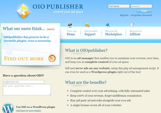 OIO Publisher Ad Server