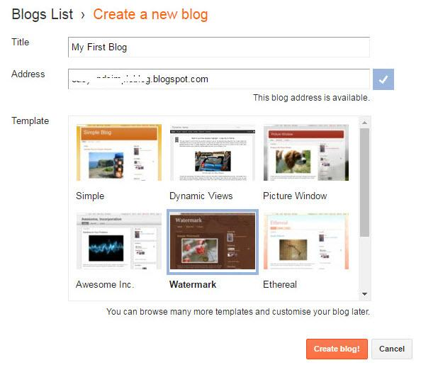 Template for your blog