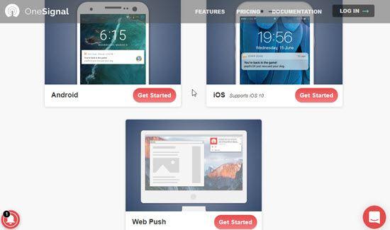 OneSignal Website Push Notification