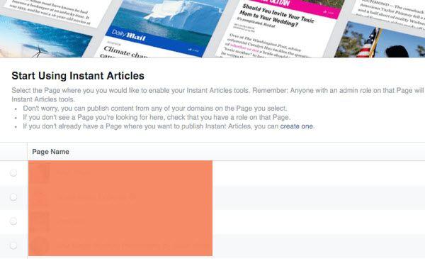 Facebook Instant Articles Setup