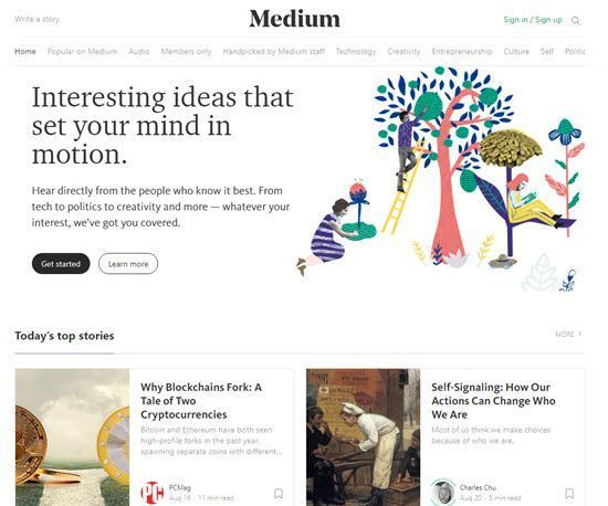Medium free blogging platforms