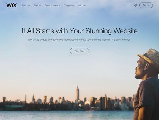 Wix blogging platforms