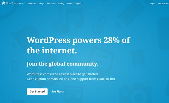 WordPress.com free blogging platforms