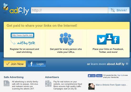 Adf.ly URL Shortener