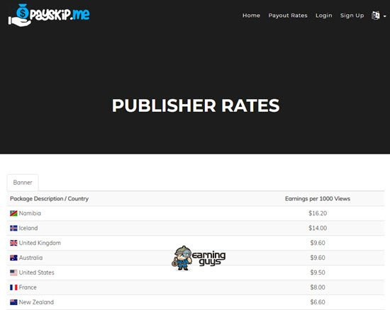 Payskip URL Shortener to Earn Money Online