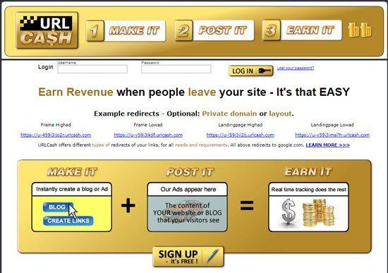 Urlcash.net URL Shortener