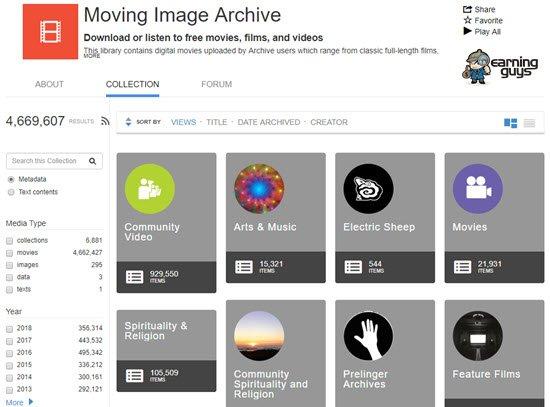 Internet Archive's Video-Archive Videos