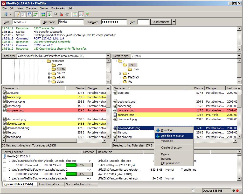FileZilla FTP Clients