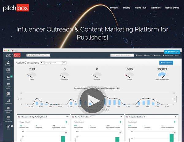 Pitchbox Influencer Marketing tool