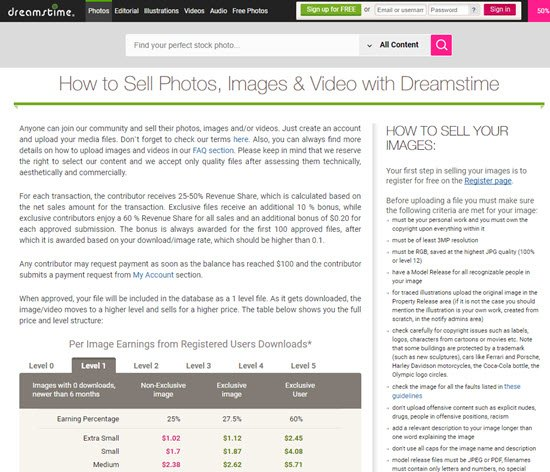 Dreamstime Sell Photos Online
