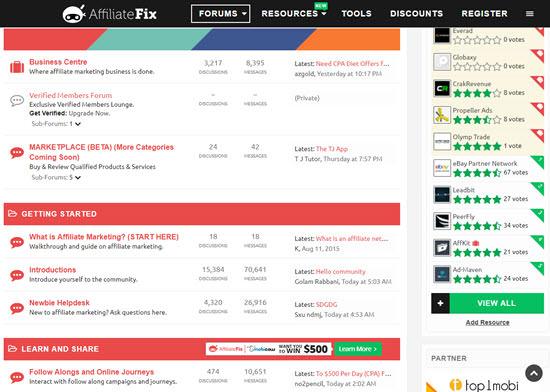 AffiliateFix Affiliate Marketing Forums