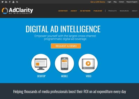 AdClarity media intelligence platforms