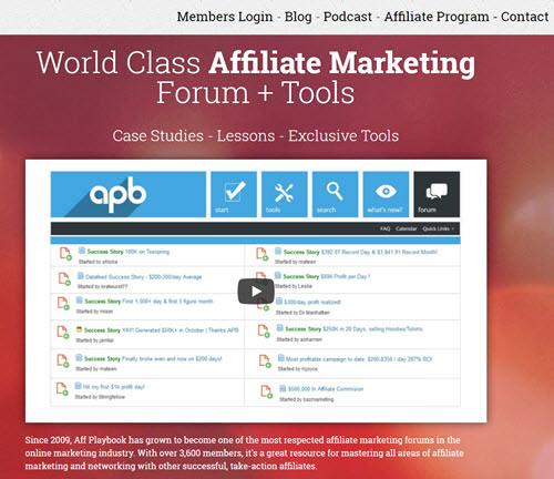 Aff Playbook Affiliate Marketing Forum