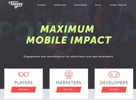 TapJoy Incentivized Ad Network