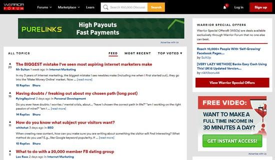 Warrior Forum Affiliate Marketing Forums