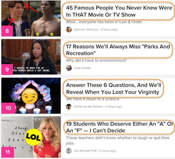 Use Headline Formulas from BuzzFeed