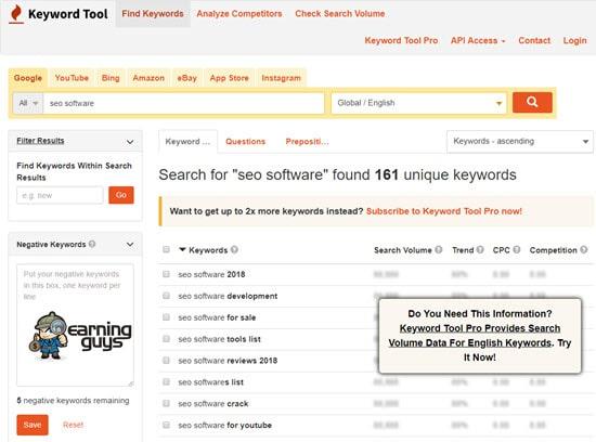 Keyword Tool Best Keyword Research Tool
