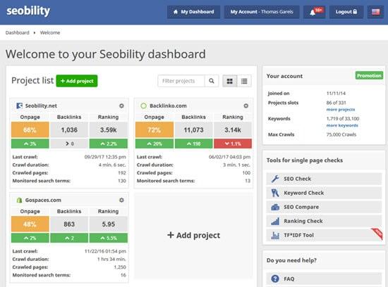 Seobility Best SEO Software