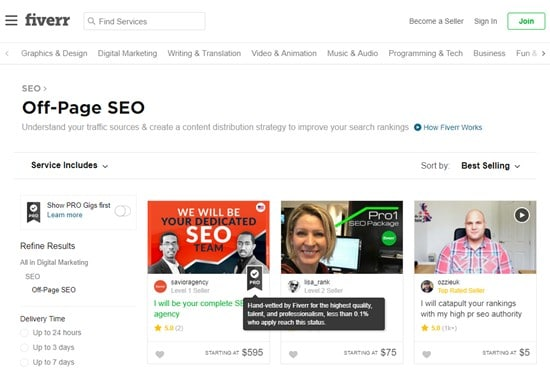 Fiverr Best Place to Buy Backlinks