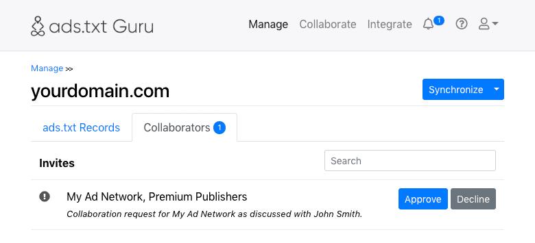 ads.txt Guru Ad Network Collaboration