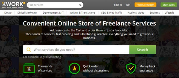 Kwork Freelance Marketplace for Buyers & Sellers