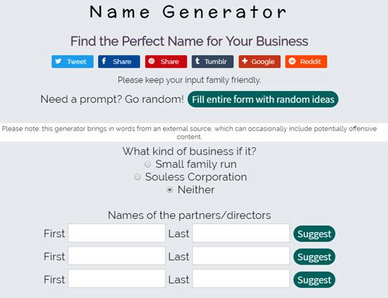 15 Free Business Name Generators to Generate Creative Company Name