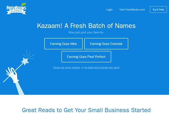 FreshBooks Business Name Generators