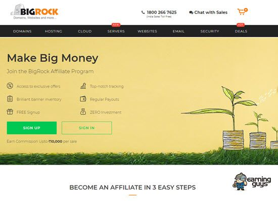 Bigrock Affiliate Program