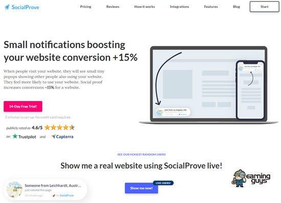 SocialProve Social Proof Tools