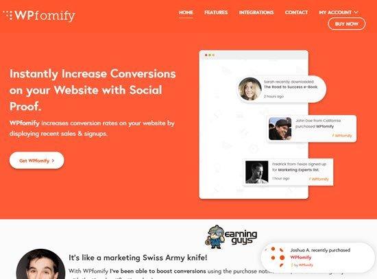 WPfomify Social Proof Tools