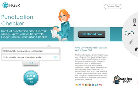 Ginger Free Punctuation Checker