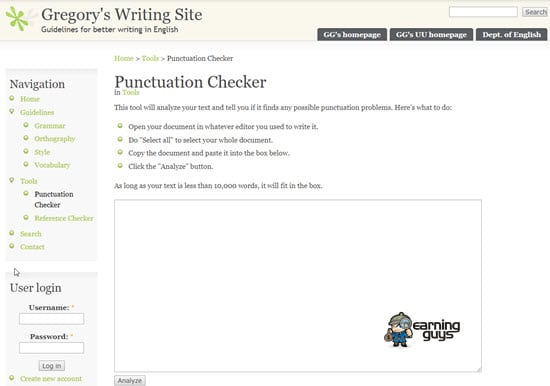 Gregory Punctuation Checker