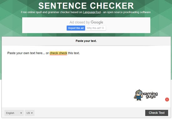 Sentence Checker Punctuation Checker