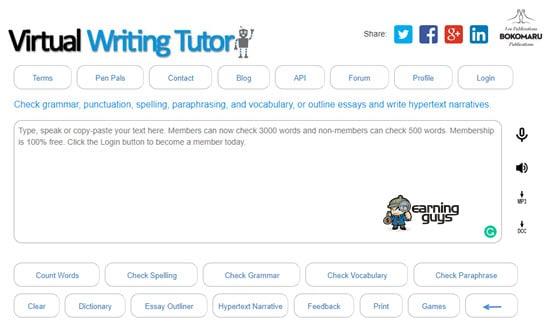 Virtual Writing Punctuation Checker